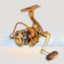 цена на Spinning Fishing reel Small gapless reel fishing reel valve stem wheel fishing wheel full metal rocker fishing wheel