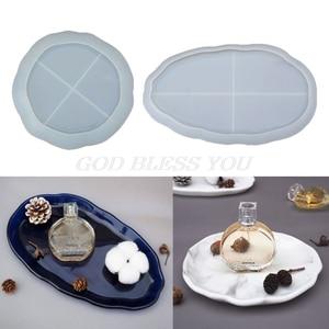 Diy bandeja de cinzeiro resina molde de cola epoxy molde de resina molde de silicone placa de jóias prato molde de fundição jóias fazendo ferramentas