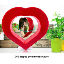 Magnetic Levitation Suspension Love Heart Shaped Photo Frame Romantic Birthday Gift Table Decoration Figurines & Miniatures(China)
