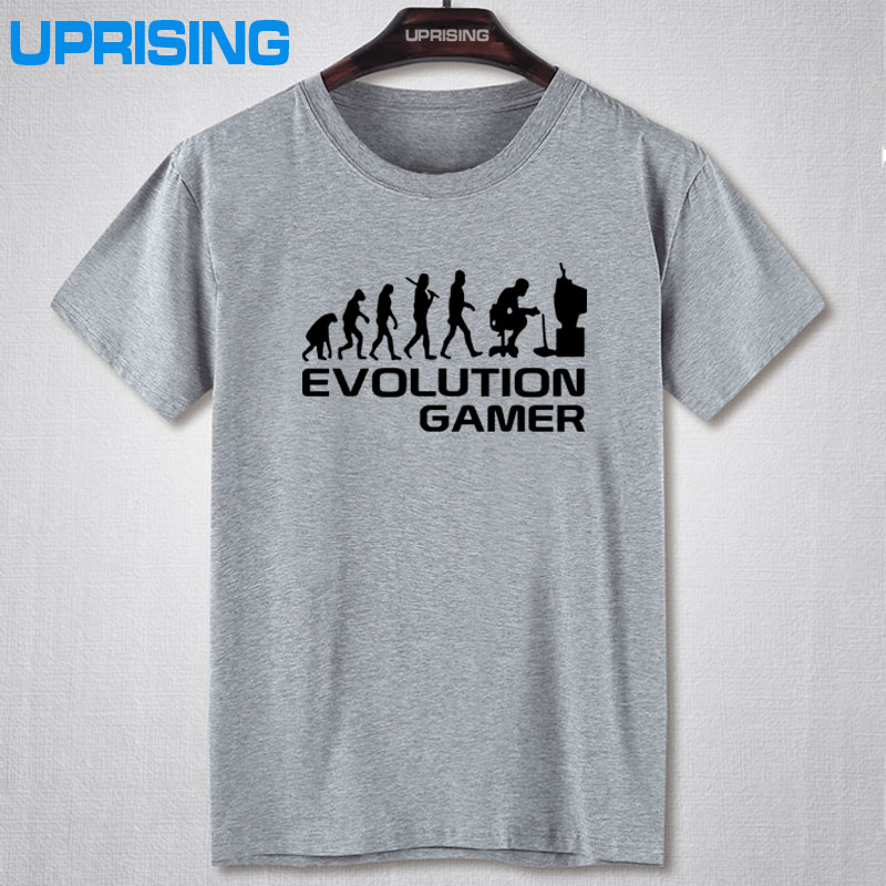 Evolution Of A Gamer PC Geek T-Shirts 2016 Summer Style Short Sleeve O-Neck Anime Funny T Shirt Men Clothing Plus Size Joke Tees image
