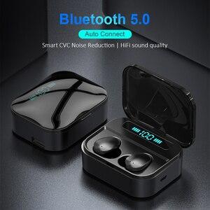 Image 2 - Auriculares TWS inalámbricos por Bluetooth 5,0, auriculares Hifi con pantalla de potencia de 1500 mAh y Control táctil de graves