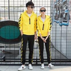 2018 frühling Und Herbst Neue Stil Sport-Set Für Männer Korean-stil Trend Slim Fit DAMEN Kleid Casual Sport hoodie Paare Set