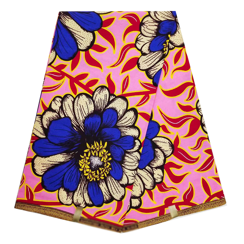 Veritable Wax High Quality 100% Cotton Nigerian Ankara African Wax Real Wax Prints Design Fabric For Women Dress Hot Sale