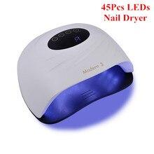 УФ светодиодный лампа для сушки ногтей с таймером и ЖК дисплеем, 120 Вт, 45 шт.