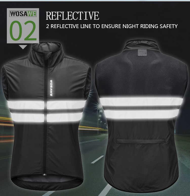 Reflektierende Sicherheit Sleeveless Weste Windbreaker für Nacht Radfahren