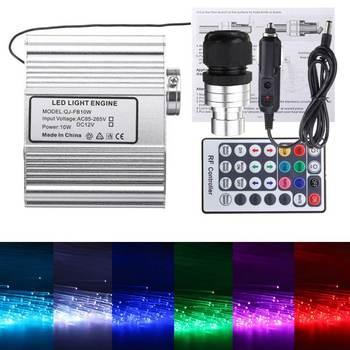Hot Sale 10W RGBW Remote LED Fiber Optic Star Ceiling Lights Kit Remote Control Electrical Tools light engine
