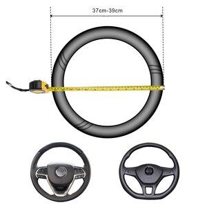 Кожаный чехол рулевого колеса автомобиля из углеродного волокна для Dacia duster logan sandero stepway lodgy mcv 2|Дискодержатель|   | АлиЭкспресс