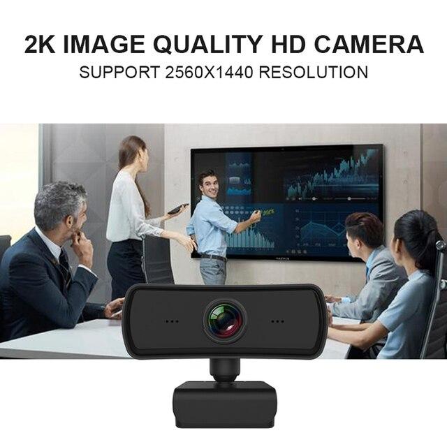 Webcam 2k 2040*1080p hd, câmera de computador e pc com microfone, câmeras rotativas para chamadas de vídeo em transmissão ao vivo trabalho de conferência 3