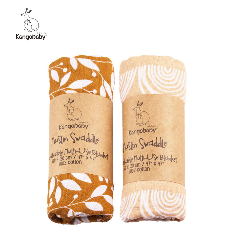 2 teile/paket Kangobaby musselin baby swaddle Decke Neugeborene Baby Bad Handtuch Swaddle Decken Multi Designs Funktionen Baby Wrap