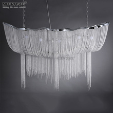 Aluminum Chain Chandelier Light Fixture Vintage Empire Suspension Lamp French Chain Hanging Lustre for Living room Restauran цена 2017