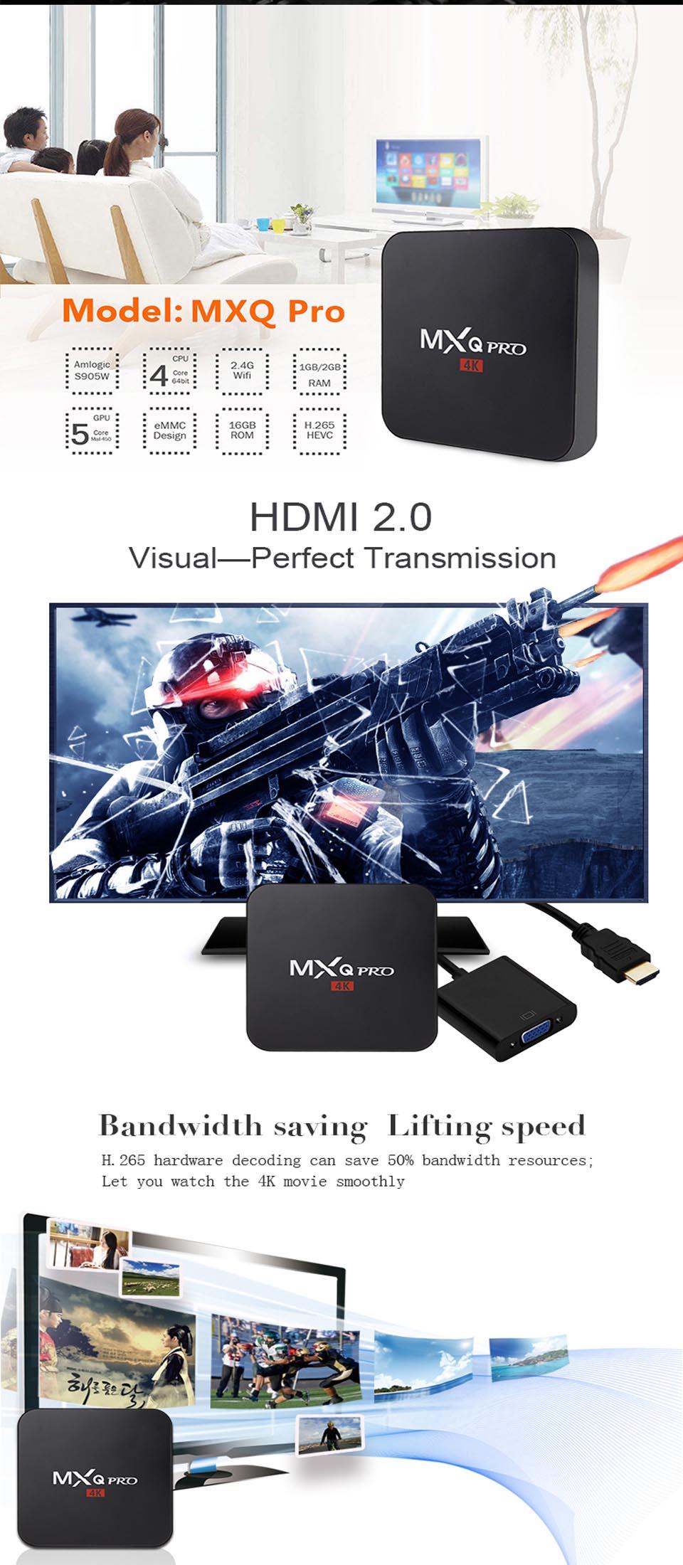 MXQ Pro 4k Android TV Box 2GB16GB 7