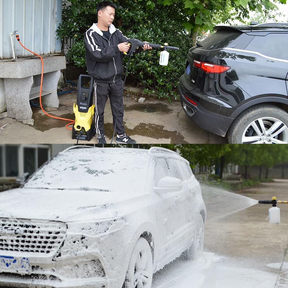 Car Wash Foam Gun Nozzle foam cannon foam generator for Karcher Kranzle Interskol Elitech Huter Gerni Stihl High Pressure Washer 4