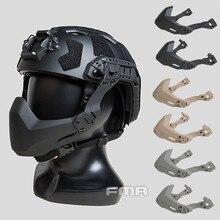 Máscara protectora táctica DE medio sello plegable FMA para casco táctico A/B DE/BK/FG TB1363/TB1364