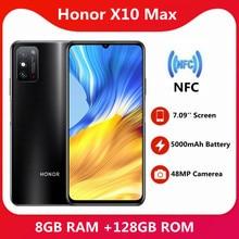D'origine Honneur X10 Max 8 GO RAM 128 GO ROM 5G SmartPhone 7.09 pouces RGBW Écran 5000mA Batterie NFC Principal 48MP 22.5WSuper Chargeur