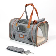 Dog Carrier Portable Pet Backpack Messenger Cat Outgoing Small Travel Bag Soft Side Breathable For