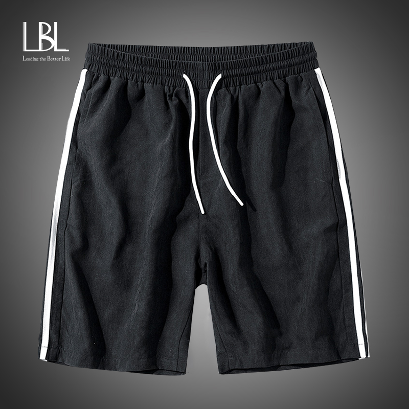 Summer Casual Shorts Men's Striped Sportswear Short Sports Pants Jogger Breathable Men's Fashion Shorts Hip Hop Streetwear LBL