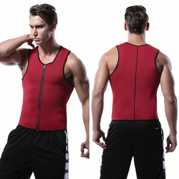 Men Waist Trainer Vest for Weight loss Neoprene Fitness Corset Body Shaper Zip Sauna Tank Top Workout Shirt Sweat Sauna Suit New heavy duty fitness weight loss sweat sauna suit exercise gym anti rip black