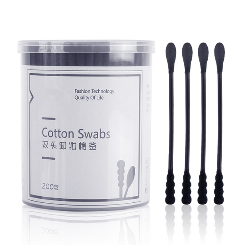 200pcs/30pcs Disposable Cotton Swabs Eyebrow Lipsticks Cotton Buds Tip Ears Clean Cotton Spiral Sticks Makeup Applicator