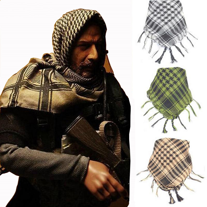 CHSDCSI Military New Windproof Scarf Cotton Thin Muslim Hijab Tactical Desert Arabic Multifunction Arab Scarves Men Winter Wraps