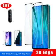 цена на Tempered glass For Xiaomi Redmi Note 8 pro screen protector redmi note 8 pro Camera protector Anti blue light ray Privacy glass
