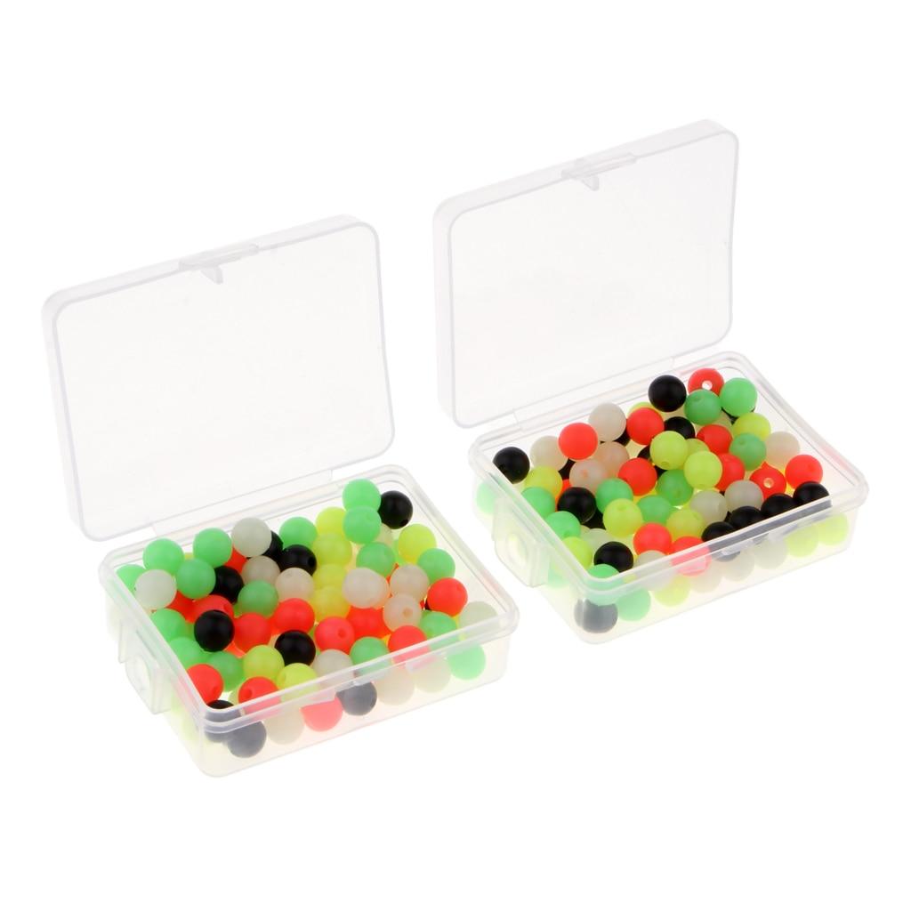 200pcs//lot 6mm//8mm Fishing Beads Lure Floating Rig Beads Carp Fishing Tackle