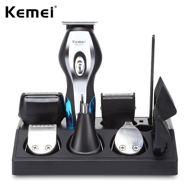 11 In 1 Hair Clipper Shaver Razor Men Nose Ear Hair Trimmer Shaving Machine Grooming Kit Rechargacle Hair Cutting Machine 40D