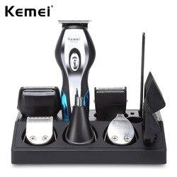 11 em 1 máquina de cortar cabelo barbeador navalha homens nariz orelha aparador de pêlos máquina de barbear grooming kit rechargacle máquina de corte de cabelo 40d