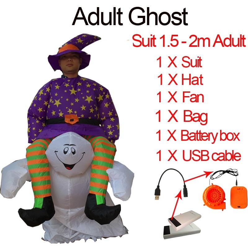 Ghost Inflatable Green Alien Costume Adult Skeleton Anime Fancy Dress Cosplay Grim Reaper Halloween Costumes For Women Man Kids (3)