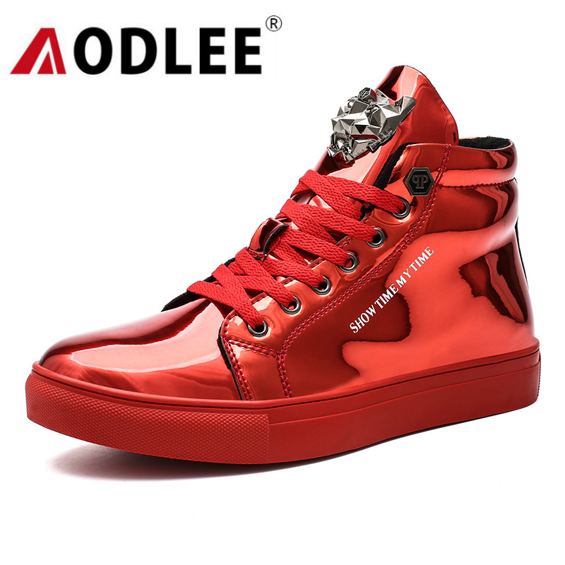 Leather Shoes Men Sneakers Plus Size 47 Ankle Boots Men Hip Hop Shoes Sneakers Men Casual Shoes Tenis Masculino Adulto AODLEE