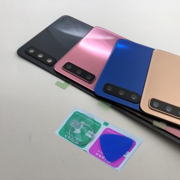 Do Samsung Galaxy A7 2018 A750F A750 obudowa telefonu ramki nowy tylna pokrywa szklana tylny panel wymiana drzwi obiektyw aparatu + narzędzia tanie i dobre opinie CN (pochodzenie) Glass For Samsung Galaxy A7 2018 A750F A750 Galaxy S8 Plus Do telefonu Nexus S Galaxy S II Dla Galaxy S