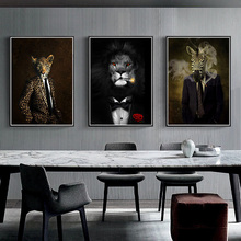 5D DIY Black and White Classy Animal Lion Tiger Elephant Giraffe Wolf Horse Diamond Painting Living Room Embroidery Cross Stitch Home Decor