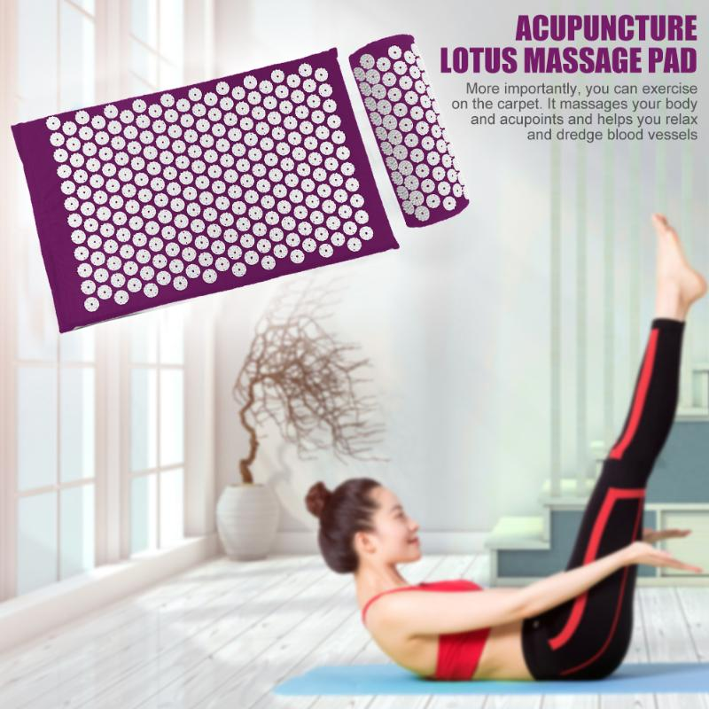 Acupressure Massage Mat with Pillow set to body Relaxation to Release Stress and Tension 5
