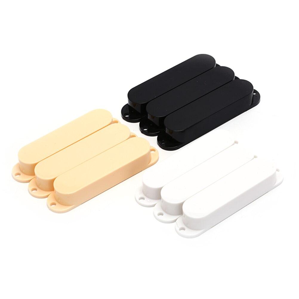 Nowy 2020 dla Strat gitara elektryczna czarny biały żółty wysokiej jakości zamknięte plastikowe pojedyncza cewka gitara Pickup Covers