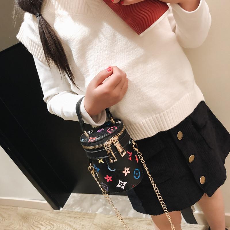 Korean-style Bag 2019 New Style Children Crossbody Bag Lettered Princess Cosmetic Bag CHILDREN'S Change Chain Bag
