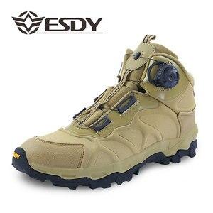 Image 3 - ESDY bottes de moto pour hommes, chaussures de sport en plein air, baskets descalade, résistantes à lusure, respirantes, chaussures de désert tactiques noires