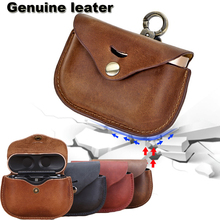 Headphone Genuine Leather Case For For Sony WF 1000XM3 Protective Cover For SONY Case Earpods Accessories Earphone Bags