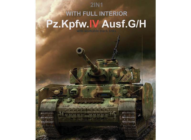 RYEFIELD RM5055 1/35 Panzerkampfwagen IV Ausf.G/H 2 в 1 модельный комплект