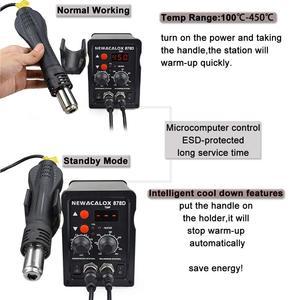 Image 5 - NEWACALOX EU 220V Soldering Station 750Wปืนความร้อน60W Soldering Iron LCDดิจิตอล2 In 1 SMD reworkสถานีเชื่อมซ่อมเครื่องมือ