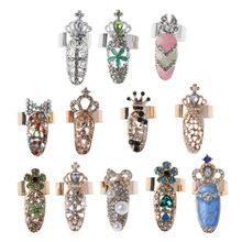 12Pcs Women Luxury Fingernails Ring Fashion Bowknot Knuckle Nail Decoration