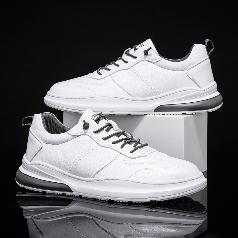 New 2020 Spring Men's Shoes White Winter Sneakers Lightweight Fur Leather Men Running Shoes Sports School Boys Fashion Footwear