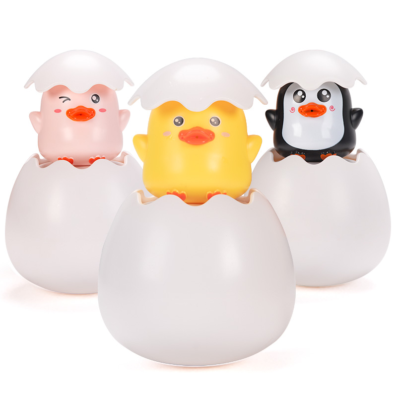 Bathroom Floating Water Spouting Egg Little Duck Baby Bathroom Bath Toy Children Water Toys Douyin Celebrity Style