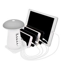 Besegad マルチポート usb 充電器 usb 充電ステーションドック qc 3.0 クイックキノコの夜のランプの充電器とタブレット