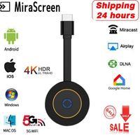 5G 4K HD Wireless HDMI-ricevitore Display Wifi compatibile HDTV Dongle specchio schermo TV Stick Miracast Airplay DLNA Media Stream