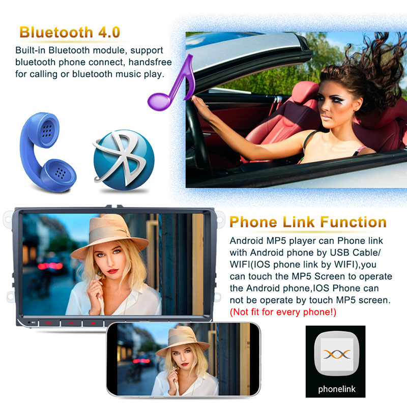 Android 9'' VW GPS 2 din 5