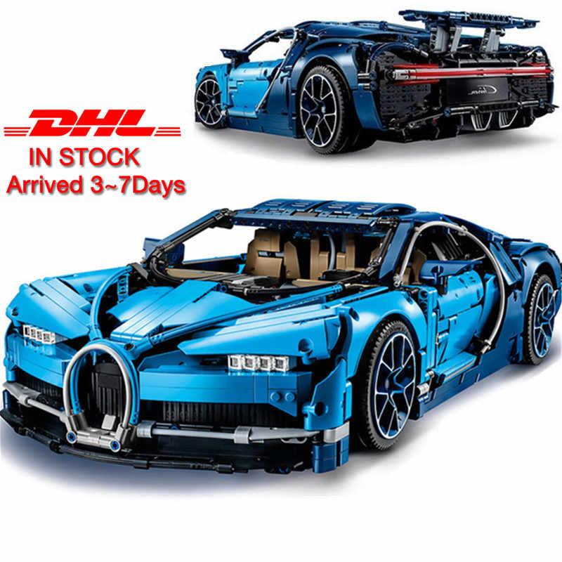 W magazynie Technic wyścigu samochód klocki klocki lego Technic 42083 42056 10220 prezent na Boże Narodzenie Bugattied samochodu Chiron