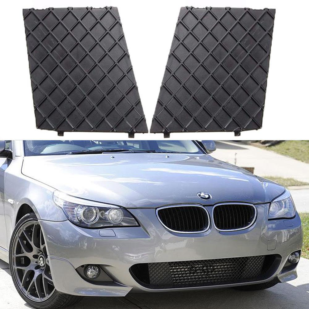 For BMW E60 E61 M Sport Grille Pair Front Bumper Cover Lower Mesh Grill Trim