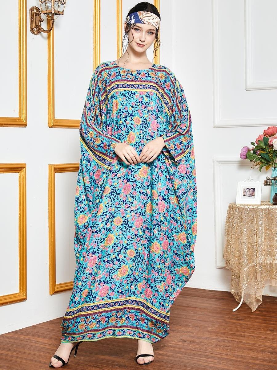 KNOW DREAM Oversized Loose Bat Sleeve Robe Muslim Hui Dubai Long Sleeve Women Dress Summer Dress 6