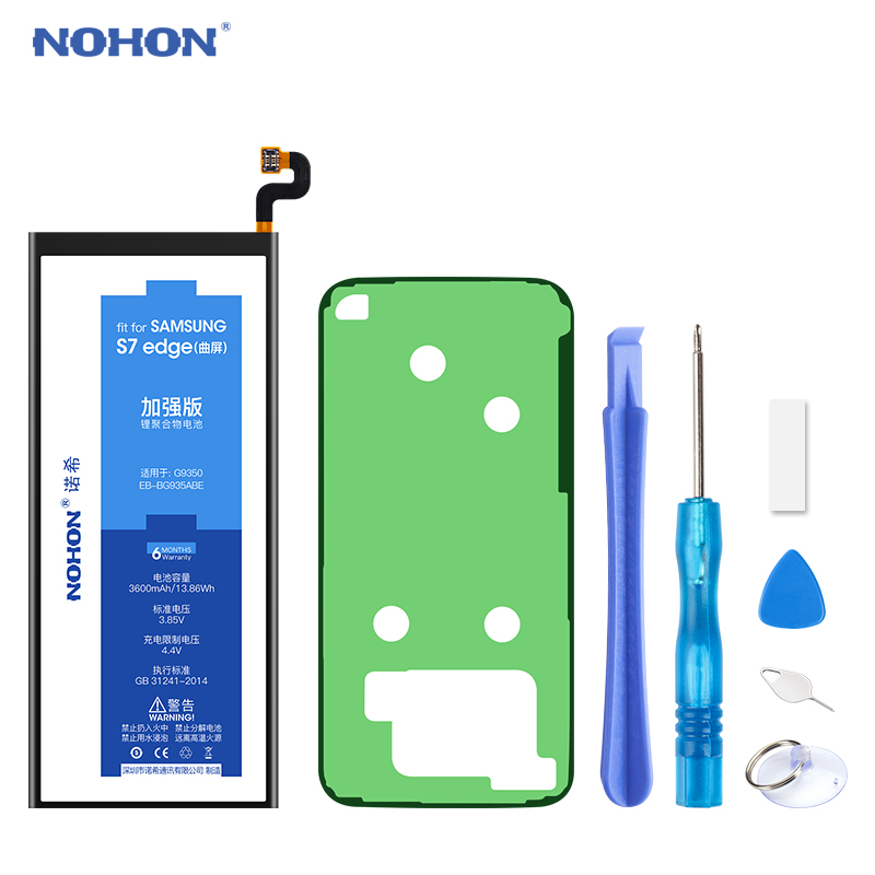 NOHON Battery for <font><b>Samsung</b></font> Galaxy S7 edge S6 <font><b>S5</b></font> S4 G9350 G935 G935F G935FD G935W8 S7edge <font><b>Bateria</b></font> Replacement Mobile Phone Batarya image