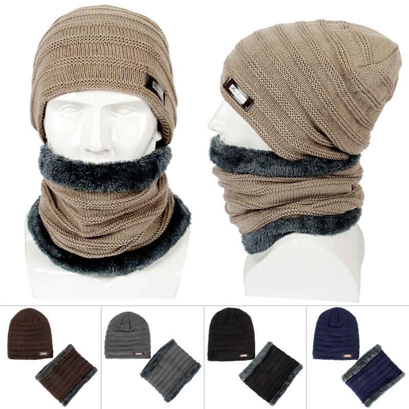 جديد الرجال قبعة صغيرة حك قبعة الشتاء الدافئة عارضة الحرارية مترهل قبعة تزلج عنق صوف للتدفئة مجموعات أسود رمادي البحرية الأزرق