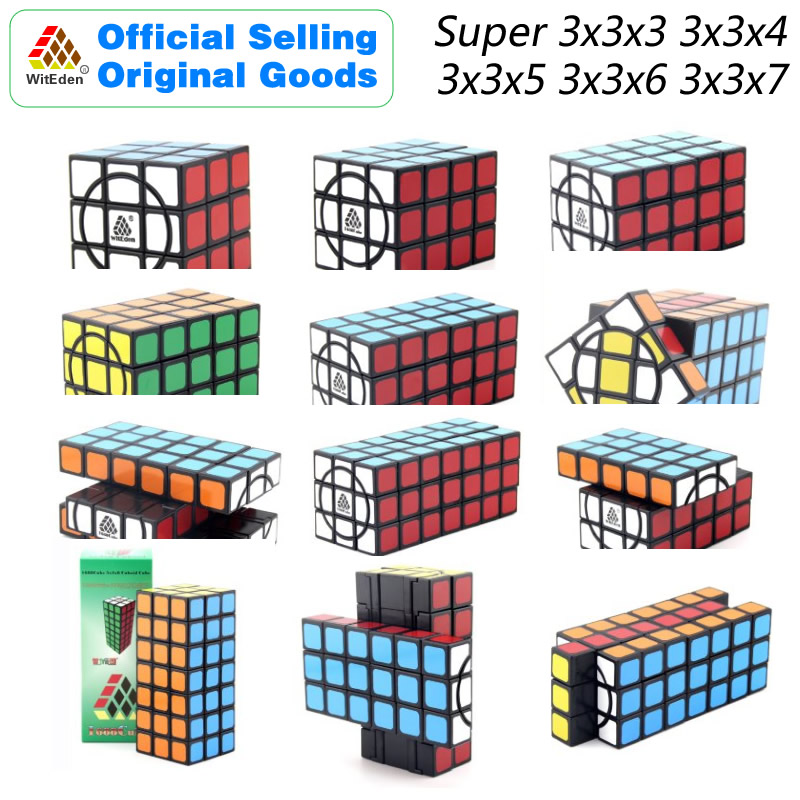WitEden Cuboid Super 3x3x3 3x3x4 3x3x5 3x3x6 3x3x7 Magic Cube Puzzles Speed Brain Teasers Challenging Educational Toys For Kids